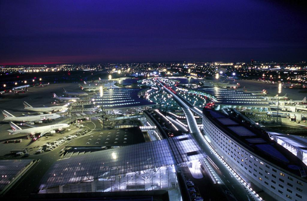 Paris Airport From Sky